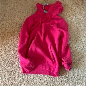 hollister hot pink fleece hoodie